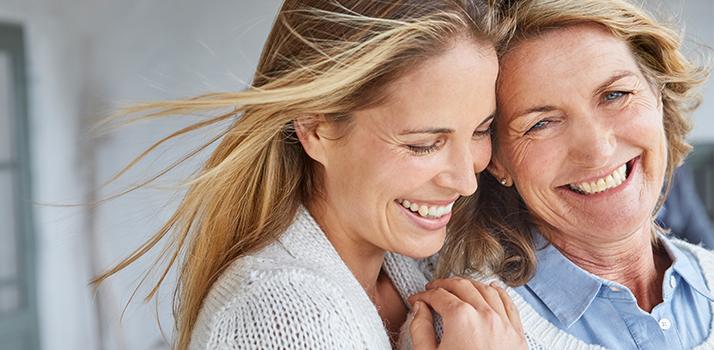matka s dcérou sa spolu tešia