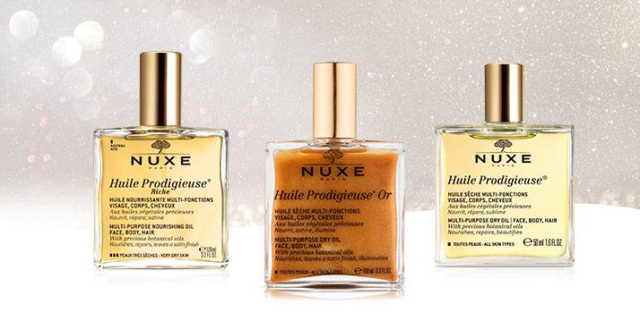 multifunkčné suché oleje Nuxe