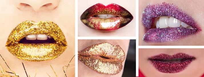 Glitter lips / trblietavé pery