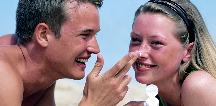 prvá pomoc pre slnkom spálenú pokožku