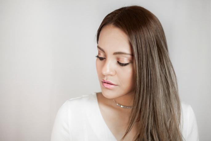 ružový make-up