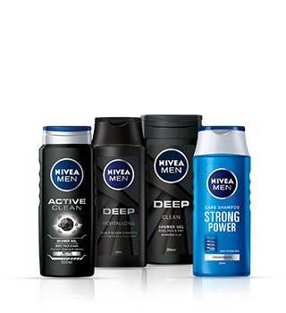 Shower products and shampoos