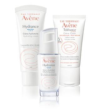 Hydratation des peaux sensibles et hypersensibles Avène
