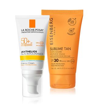 Produits solaires pour le visage
