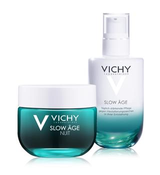 Vichy gegen Falten und Hautalterung