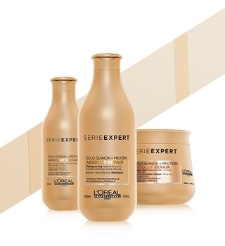 L'Oréal Professionnel Serie Expert Gold Quinoa, Absolu Repair, Source Essentiele, Nutrifier, Inforcer