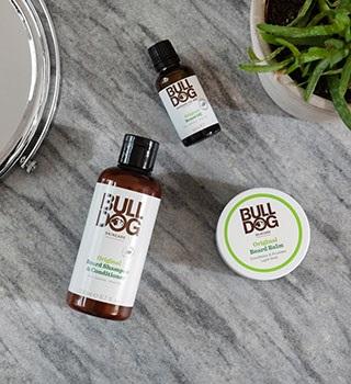 szampon, balsam, olejek do brody Bulldog