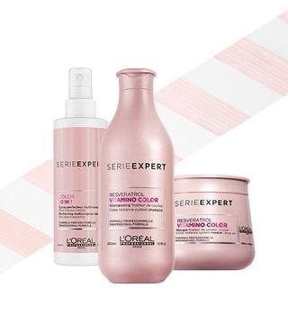 L'Oréal Professionnel Serie Expert Vitamino Color, Resveratrol, Blondifier, Silver, AOX, Solar Sublime