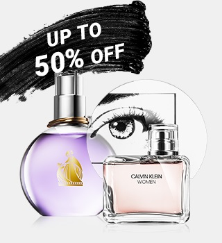 up to 50% off perfumes