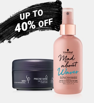 up to 40% off hair care products