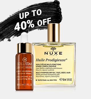 up to 40% off skin care products