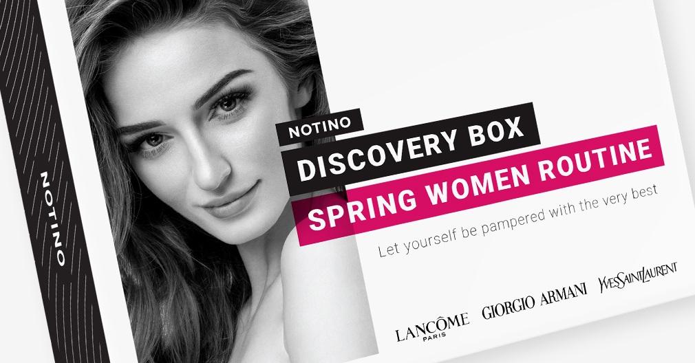 Discovery box Spring Women Routine съдържа мостри на следните парфюми и козметика: