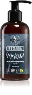 4Organic Mr. Wild Coffee gel nettoyant pour barbe, visage et cheveux