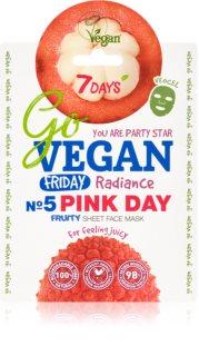 7DAYS GoVEGAN Friday PINK DAY maska rozświetlająca w płacie