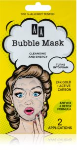 AA Cosmetics AA Bubble Mask Máscara facial de limpeza