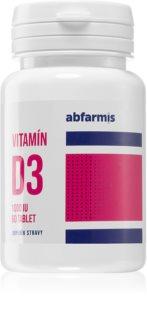 Abfarmis Vitamín D3 1000IU správné fungování imunitního systému, zdravé kosti a svaly