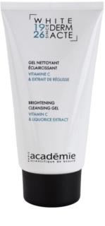Academie Derm Acte Whitening tisztító gél az élénk bőrért
