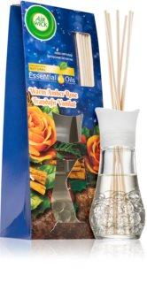 Air Wick Essential Oils Warm Amber Rose aroma difuzor s polnilom z vonjem vrtnic