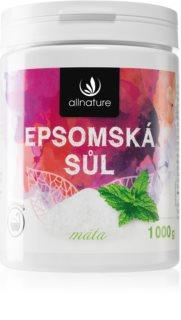Allnature Epsomská sůl Mint koupelová sůl