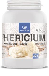 Allnature Hericium Korálovec ježatý doplněk stravy pro podporu imunity a detoxikace organismu
