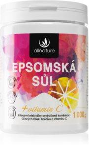 Allnature Epsomská sůl Vitamin C sůl do koupele