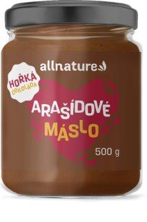 Allnature Arašídové máslo s hořkou čokoládou ořechová pomazánka