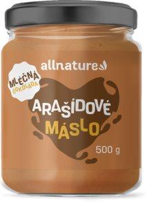 Allnature Arašídové máslo s mléčnou čokoládou ořechová pomazánka