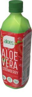 Aloes Aloe Vera  jahoda nápoj s Aloe Vera