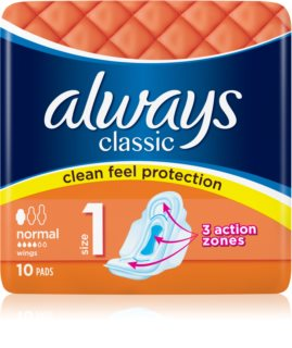 Always Classic Normal sanitary towels