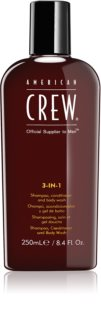 American Crew Hair & Body 3-IN-1 Shampoo, Conditioner und Duschgel 3in1 für Herren