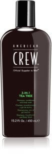American Crew Hair & Body 3-IN-1 Tea Tree champú, acondicionador y gel de ducha 3 en 1 para hombre