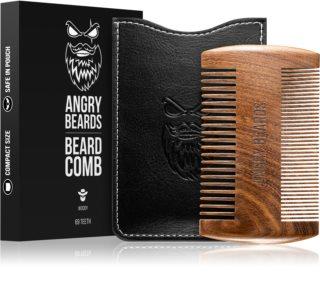 Angry Beards Beard Comb 69 Teeth drewniany grzebień do brody dwustronny