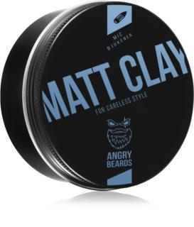 Angry Beards Matt Clay Mič Bjukenen stylingový íl na vlasy