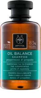 Apivita Holistic Hair Care Pepermint & Propolis шампунь для жирных волос