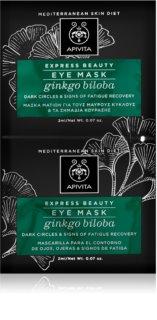 Apivita Express Beauty Ginkgo Biloba маска для шкіри навколо очей проти набряків та темних кіл