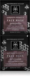 Apivita Express Beauty Propolis hĺbkovo čistiaca maska pre mastnú pleť
