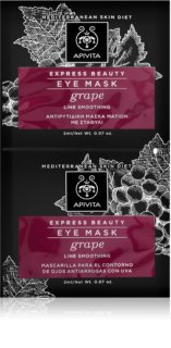 Apivita Express Beauty Grape mascarilla alisante para contorno de ojos