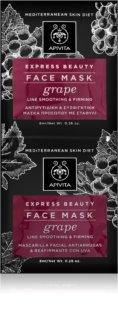 Apivita Express Beauty Grape máscara facial rejuvenescedora e suavizante