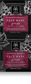 Apivita Express Beauty Grape Rejuvenating and Smoothing Face Mask