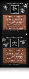 Apivita Express Beauty Royal Jelly revitalizáló arcmaszk feszesítő hatással