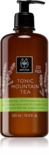 Apivita Tonic Mountain Tea gyengéd tusfürdő gél esszenciális olajokkal