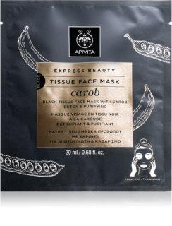Apivita Express Beauty Carob Detox-Tuchmaske