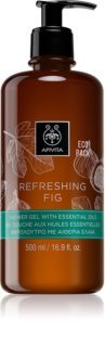 Apivita Refreshing Fig gel de duche refrescante com óleos essenciais