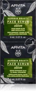 Apivita Express Beauty Olive intenzív tisztító peeling az arcra