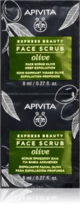 Apivita Express Beauty Olive peeling de limpeza intensivo para rosto