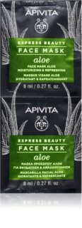 Apivita Express Beauty Aloe Hydrating Face Mask With Aloe Vera