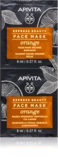 Apivita Express Beauty Orange posvetlitvena maska za obraz