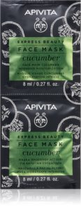 Apivita Express Beauty Cucumber máscara facial hidratante intensiva