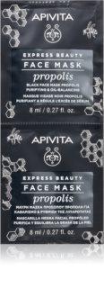 Apivita Express Beauty Propolis crna maska za čišćenje za masnu kožu