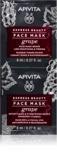 Apivita Express Beauty Grape  máscara facial reafirmante e antirrugas